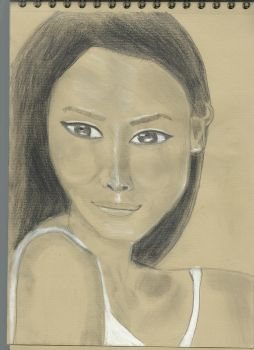 Kraft test - Woman face study n109bis by lv888