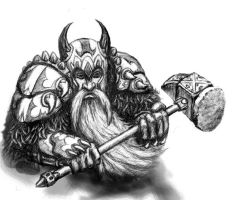 Dwarf Warrior by cleophus