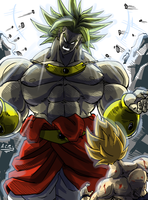 Broly Vs Goku by ACPuig