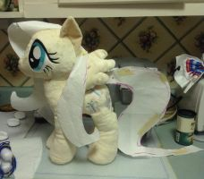 Fluttershy Plush WIP by equinepalette