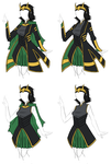 Clothing Designs - Avengers Loki Dress by BakaNekoSango