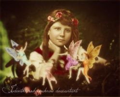 Frances Griffths with the Cottingley Fairies by Idontknowwhoyouknow