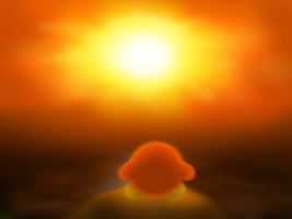 Waddle dee under the Sunset by psychoticmindsystem