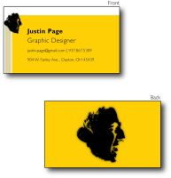 Graphic Design Business Cards by JustinRampage