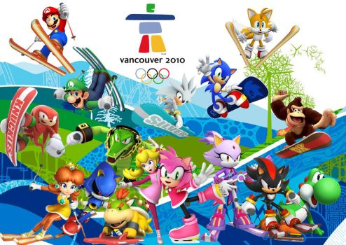 Mario and Sonic Vancouver 2010 V3 by Griddler6