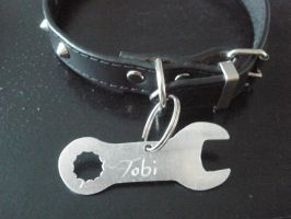Spanner Collar Tag on collar by JazzZi13