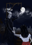 Esmeralda, Frollo and gallows by Catherine-PL