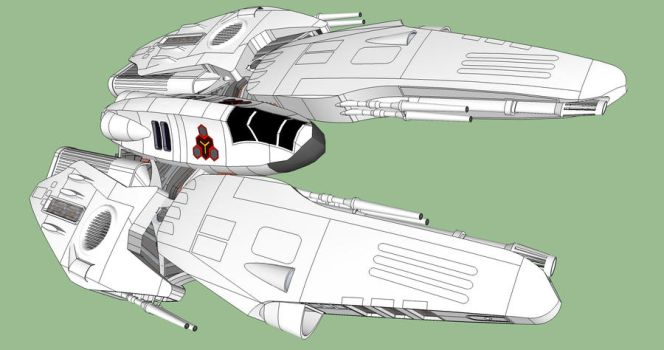 Kani 'Hunchback class' Heavy Fighter by Andywerk