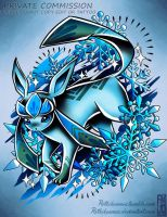 Glaceon Tattoo Commission by RetkiKosmos