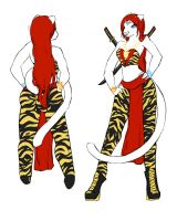 ::Kaiari Ref for Skyworthy:: (clothed) by Kanji-or-Koi