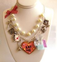 Alice in Wonderland Tea Party Statement Necklace by FatallyFeminine
