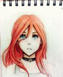 Red haired animu gurl by xxsashkaxx