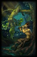 Satyr and dryad by Jahary