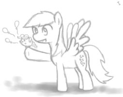 Pinky and Derpy! WIP by ijustloveit619