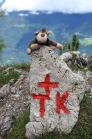 boundary stone with monkey by gunkl