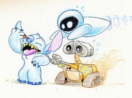 If Stitch was in WALL-E by Mickeymonster