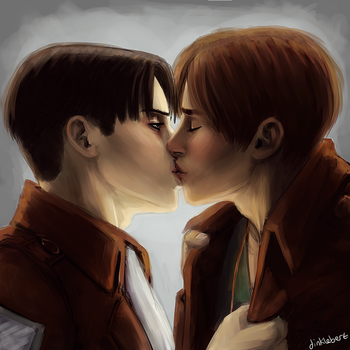 Ereri Kiss by Dinklebert