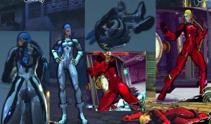 Cammy Plug Suits Evangelion v2 - MOD - SSF4AE by somebody2978