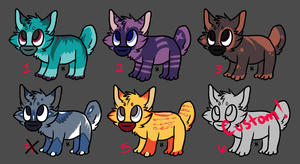 Chibi Adopts! 10 points each! by Vertok-Adopts