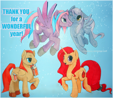 Paperponies: Aila and friends by Cindacry