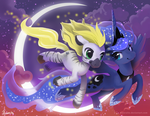 MLP FIM: Luna and Jack soaring - Revisited by hinoraito