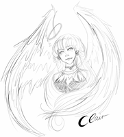 10 Minute Sketch Clair Featherwalk by KaWaKoNa