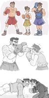 Gravity Falls- Mystery Trio BOXING by MadJesters1