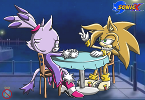 Sonic X Otto and Blaze by shadowhatesomochao