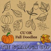 Fall Doodles Custom Shapes by debh945