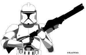 Clone Trooper by BlackW0rks
