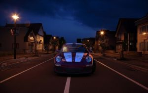 Porsche At Night by rulerz96