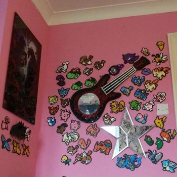 pokemon wall :3 half done by RoseBlackBones