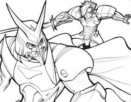 Ronin Warriors: Sage v Cale by AdamWithers