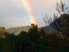 Rainbow over the Mountains by Squiddgee7734