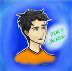 Percy Jackson--Digital Attempt by JasminSC