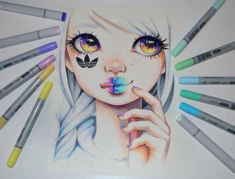 Adidas Superstar Girl by Lighane