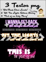 Pack: 3 Textos PNG by ILovePS