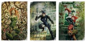Gotham Sirens Tryptich Print Set by dreamflux1