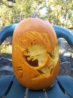 Raito-Pumpkin carving-light by ZombieOwl
