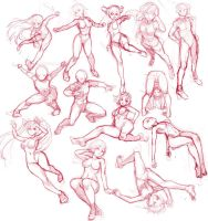 pose scribbling by gimei