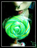 Psyche Green lollipop by StRaNgEMiAoU