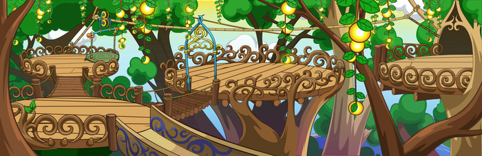 (F2U) Fantage Secret Fairyland 2F Background by Fario-P