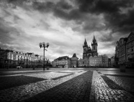 sunrise in Prague by almiller