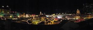 The Country Club Plaza Lights--Panoramma by DecThePixter