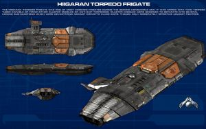 Hiigaran Torpedo Frigate ortho [new] by unusualsuspex