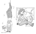 The Hanged One and The World by vcfgr