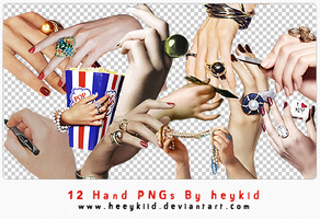 12 Hand PNGs By heykid by heeykiid