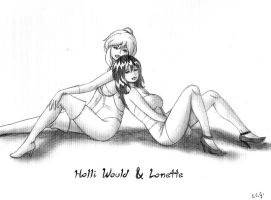 Pinup no 8 Holli and Lonette by CCGTheArtist