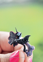 Nightmare Moon Miniature Sculpture by wibblequibble