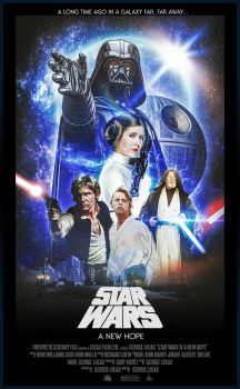 Star Wars: Episode IV - A New Hope / Poster by Visutox